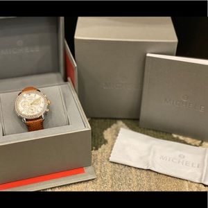 Michele Lady's SS Two-tones Watch with Diamonds